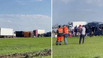 Шестеро детей погибли вДТП сКамАЗом вСтавропольском крае
