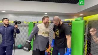 Кадыров провел спарринг с непобедимым бойцом UFC Хамзатом Чимаевым