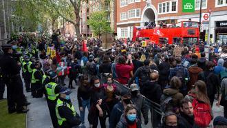 Девять человек задержаны вЛондоне на акции против расширения полномочий полиции