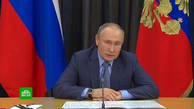 Путин сравнил российские вакцины от COVID савтоматом Калашникова.Путин, коронавирус, эпидемия.НТВ.Ru: новости, видео, программы телеканала НТВ