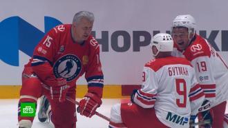 Путин забросил восемь шайб вматче Ночной хоккейной лиги