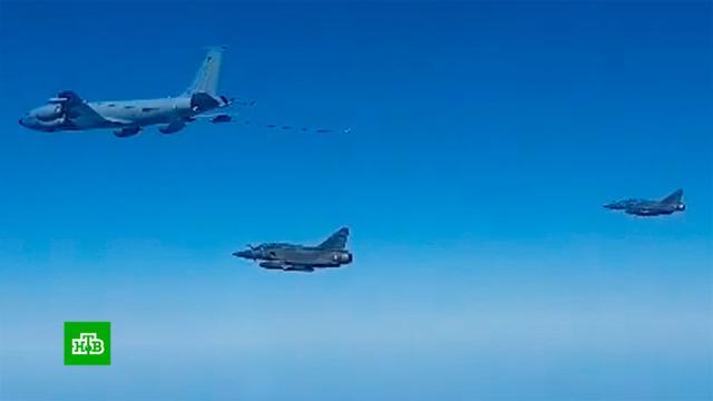 Минобороны показало перехват самолетов ВВС Франции над Чёрным морем.Минобороны РФ, Франция, Чёрное море, авиация, армия и флот РФ.НТВ.Ru: новости, видео, программы телеканала НТВ