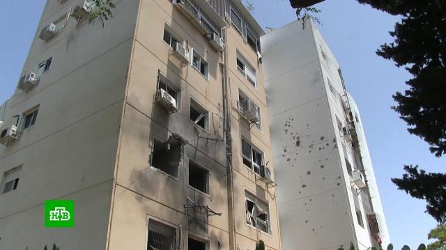 Прямое попадание ракеты вжилую многоэтажку вИзраиле сняли на видео.Израиль, Палестина, войны и вооруженные конфликты.НТВ.Ru: новости, видео, программы телеканала НТВ