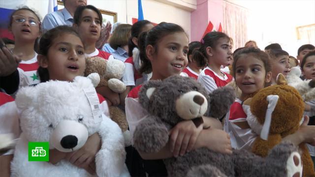 Детдомовцам сирийской Латакии российские военные привезли еду иподарки.Сирия, армия и флот РФ, войны и вооруженные конфликты, гуманитарная помощь, детские дома.НТВ.Ru: новости, видео, программы телеканала НТВ