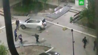 Ночная стрельба водном из дворов Тюмени попала на видео