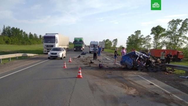 Четыре человека погибли вДТП с«КамАЗом» под Самарой.ДТП, Самара, смерть.НТВ.Ru: новости, видео, программы телеканала НТВ