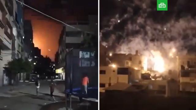 Армия Израиля атакует сектор Газа на земле и в воздухе.Израиль, Палестина, войны и вооруженные конфликты.НТВ.Ru: новости, видео, программы телеканала НТВ