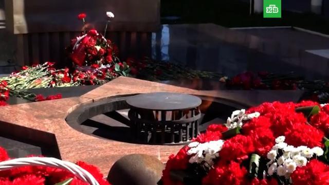 ВХимках задержали мужчину, бросившего телевизор вВечный огонь.Московская область, вандализм, памятники, полиция.НТВ.Ru: новости, видео, программы телеканала НТВ