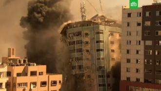 Израильские ракеты разрушили <nobr>11-этажное</nobr> здание всекторе Газа