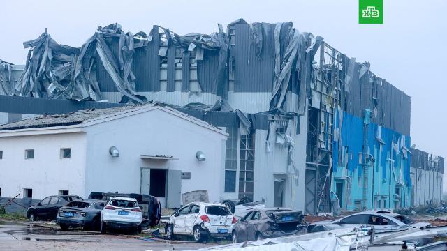 Смертельный торнадо в китайском городе Ухань.Китай, стихийные бедствия.НТВ.Ru: новости, видео, программы телеканала НТВ