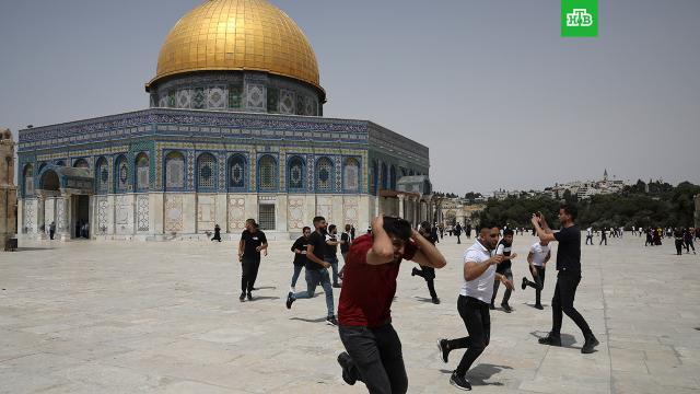 На Храмовой горе возобновились беспорядки: не менее 15пострадавших.Израиль, Палестина, беспорядки, территориальные споры.НТВ.Ru: новости, видео, программы телеканала НТВ