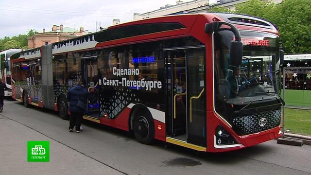 ВПетербурге показали транспорт будущего.Санкт-Петербург, общественный транспорт, технологии.НТВ.Ru: новости, видео, программы телеканала НТВ