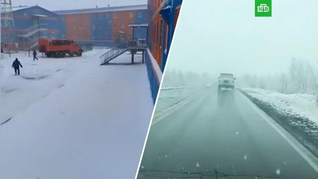 Летний снег выпал на Ямале.Ямало-Ненецкий АО, лето, погода, погодные аномалии, снег.НТВ.Ru: новости, видео, программы телеканала НТВ