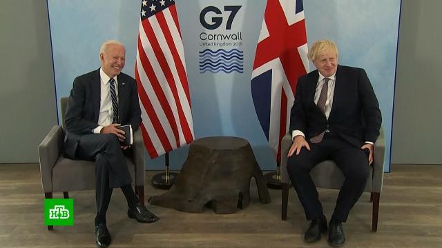 Байден вВеликобритании вспомнил озаикании иконфликте сРоссией