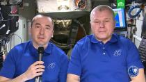 Космонавты передали поздравление с Днем России с борта МКС.МКС, Роскосмос, космонавтика, торжества и праздники.НТВ.Ru: новости, видео, программы телеканала НТВ