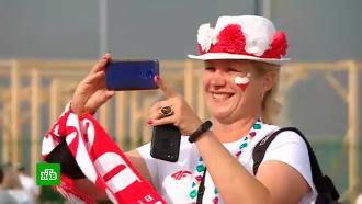 Польские болельщики устроили футбольный праздник на улицах Петербурга