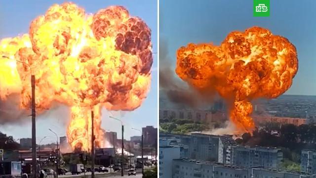 Над Новосибирском поднялся огненный гриб.Новосибирск, взрывы, пожары.НТВ.Ru: новости, видео, программы телеканала НТВ