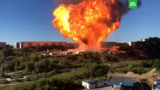 Взрыв вНовосибирске: баллон сАЗС пролетел десятки метров