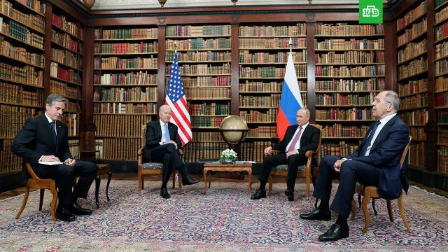 Путин и Байден завершили переговоры в узком составе.В Швейцарии завершился первый этап переговоров Владимира Путин и Джо Байдена.Байден, Путин.НТВ.Ru: новости, видео, программы телеканала НТВ