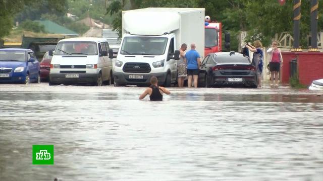 Град, затопленные улицы иизуродованный пляж: хроники потопа на Кубани ив Крыму
