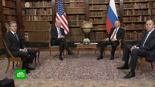Россия и США создадут рабочие группы по решению накопившихся проблем.В Женеве состоялись первые переговоры Владимира Путина и Джо Байдена. По итогам саммита опубликовано совместное заявление президентов России и США. В документе отмечено: для снижения рисков ядерной войны, в которой не может быть победителей, страны запускают предметный диалог. Всего переговоры длились почти пять часов, обсудили почти все самые острые вопросы.Байден, Путин, США, переговоры.НТВ.Ru: новости, видео, программы телеканала НТВ