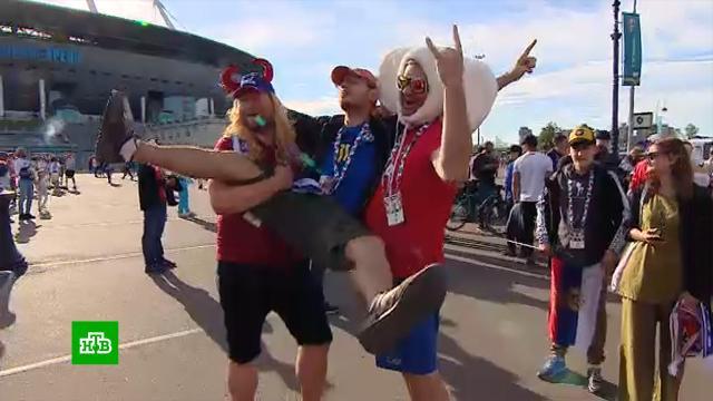 Радость фанатов сборной России после победы над Финляндией выплеснулась на улицы