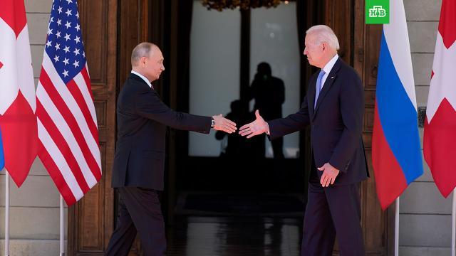 «Скорее со знаком плюс»: Песков оценил переговоры Путина и Байдена.Дмитрий Песков подвел итоги российско-американского саммита в Женеве.Байден, Песков, Путин.НТВ.Ru: новости, видео, программы телеканала НТВ