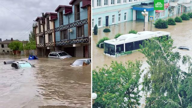 Ливень затопил Керчь.НТВ.Ru: новости, видео, программы телеканала НТВ