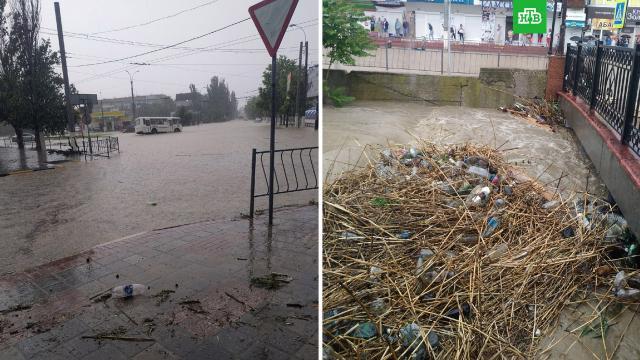 Тысячи крымчан остались без воды из-за ливня.В Крыму ливень затопил насосные станции и повредил линии электропередачи.Крым, наводнения, стихийные бедствия.НТВ.Ru: новости, видео, программы телеканала НТВ
