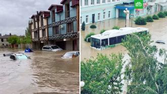 Ливень затопил Керчь