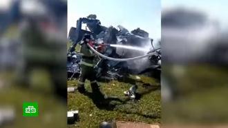 Крушение самолета спарашютистами вКузбассе: видео сместа ЧП