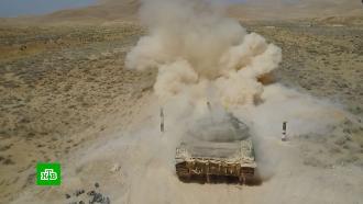 ВСирии прошел международный этап танкового биатлона