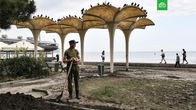 Водоснабжение Ялты полностью восстановлено.Крым, Севастополь, наводнения, пляжи.НТВ.Ru: новости, видео, программы телеканала НТВ