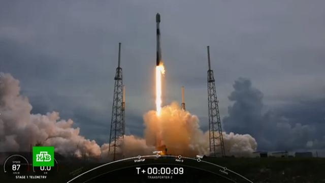 SpaceX запустила ракету-носитель со спутниками.Илон Маск, США, запуски ракет, самолеты, спутники.НТВ.Ru: новости, видео, программы телеканала НТВ
