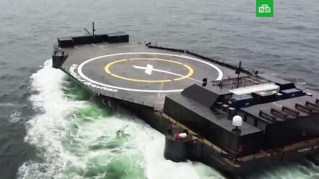 SpaceX показала самоходную плавучую станцию для посадки ступеней ракет.Илон Маск, космонавтика, космос.НТВ.Ru: новости, видео, программы телеканала НТВ