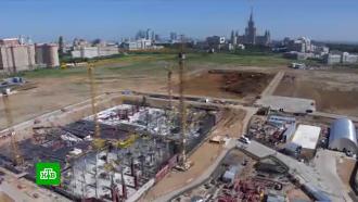 ВМоскве заложили камень на месте строительства кластеров научной долины МГУ