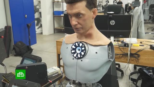 Во Владивостоке производят гиперреалистичные головы для человекоподобных роботов.Владивосток, роботы, технологии.НТВ.Ru: новости, видео, программы телеканала НТВ
