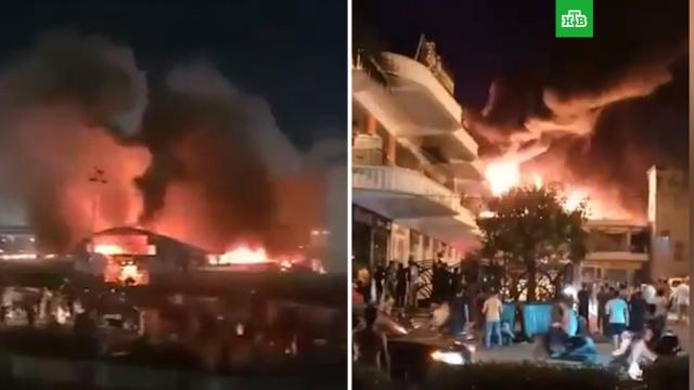 ВИраке пылает госпиталь для пациентов сCOVID-19.Ирак, больницы, взрывы, коронавирус, пожары, эпидемия.НТВ.Ru: новости, видео, программы телеканала НТВ