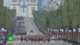 Путин поздравил Макрона сДнем взятия Бастилии