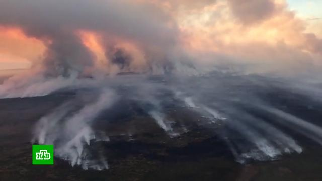 На линии огня: дым от лесных пожаров затрудняет работу аэропорта Якутска.Якутия, лесные пожары.НТВ.Ru: новости, видео, программы телеканала НТВ