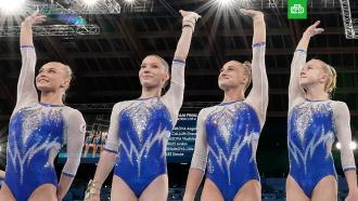 Россиянки впервые выиграли командные соревнования по спортивной гимнастике на ОИ