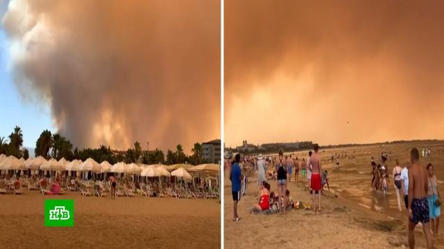Серое небо, пепел игарь: российские туристы рассказали опожарах вТурции.Турция, пожары.НТВ.Ru: новости, видео, программы телеканала НТВ