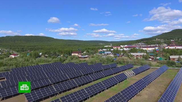 ВЭвенкии завершается строительство самой мощной на севере солнечной электростанции.Красноярский край, экология, электростанции, энергетика.НТВ.Ru: новости, видео, программы телеканала НТВ