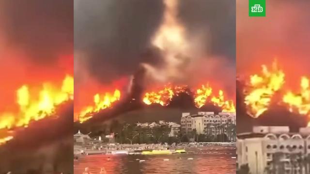 «Пора валить»: новое видео лесных пожаров на турецком курорте.Турция, лесные пожары, стихийные бедствия.НТВ.Ru: новости, видео, программы телеканала НТВ