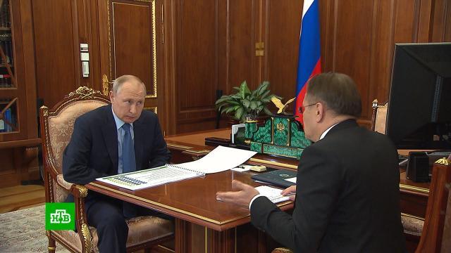 Глава «Росатома» доложил Путину о рекордах атомной отрасли.Путин, Росатом, энергетика.НТВ.Ru: новости, видео, программы телеканала НТВ