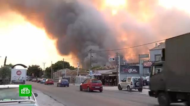 Огненный апокалипсис: пламя лесных пожаров охватило греческие острова.Греция, пожары, лесные пожары.НТВ.Ru: новости, видео, программы телеканала НТВ