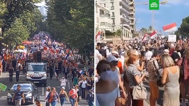 Более 140тысяч французов вышли на митинги против санитарных пропусков.Европа, Макрон, Франция, коронавирус, митинги и протесты.НТВ.Ru: новости, видео, программы телеканала НТВ
