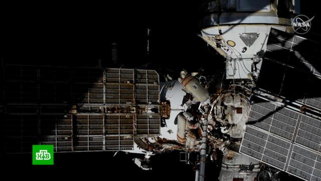 Космонавты подключили модуль «Наука» клокальной сети МКС.МКС, Роскосмос, космонавтика, космос.НТВ.Ru: новости, видео, программы телеканала НТВ