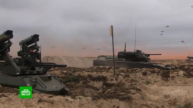<nobr>«Запад-2021»</nobr>: Путину показали боевых роботов иновые БМП