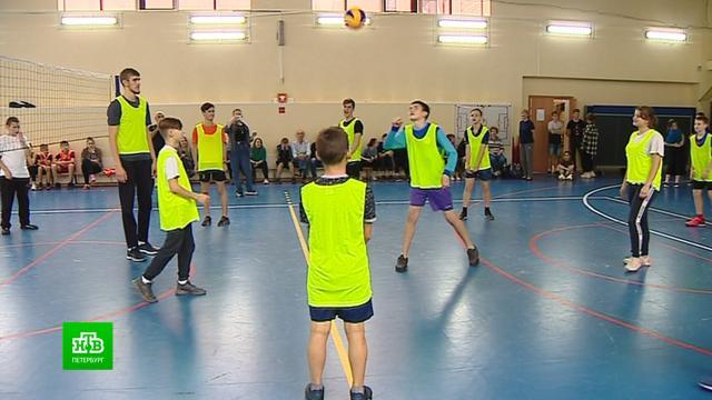 Волейбольный «Зенит» дал мастер-класс для подростков.Санкт-Петербург, волейбол, спорт.НТВ.Ru: новости, видео, программы телеканала НТВ